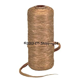 Spool of Hemp Wound on Cardboard Core, Individually Packed, Shrink Wrapped in Film (Spool Approximately 80 g) brown