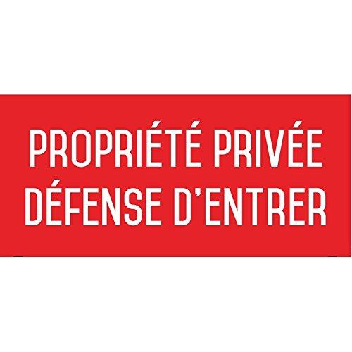 Propriété privée, défense d'entrer - Autocollant Vinyl Waterproof - L.200 x H.100 mm