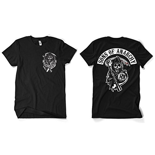 Officially Licensed Merchandise SOA Backpatch T-Shirt (Black), Large