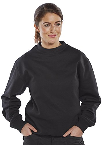 clickworkwear Rundhalsausschnitt Sweatshirt schwarz