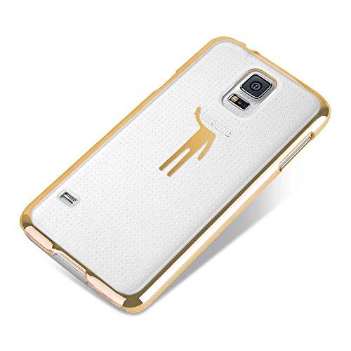 Apple iPhone 5 / 5s Handyhülle / Schutzhülle inkl. Displayschutzfolie im Design : die kleine Fee Gold HangMen Gold+Touchstift