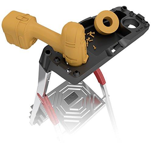 Hailo ProfiLine S150 XXL Alu-Stufenstehleiter (5 XXL-Stufen, Plattform-Verriegelung, belastbar bis 150 kg, Ablageschale) 8815-027
