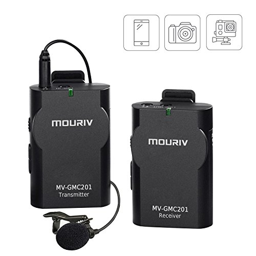 MOURIV MV-GMC201 Kompakte Lavalier Wireless Mikrofon lapel Mic für IOS Smartphone Tablet DSLR Kamera Camcorder Audio Recorder PC Andere Audio/Video Tablet Gopro