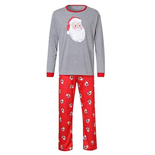 09dae92c2b809 Innerternet Ensemble Famille VêTements De NoëL Pyjama Pjs 2Pcs Col Round  Manches Longues Top Et Pantalon