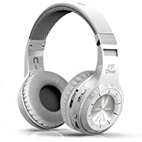 Bluedio H+(Turbine) Wireless Bluetooth Stereo Headphones Micro-SD Music String/FM Radio BT4.1 On-ear Headphones (White)