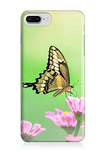 COVER Schmetterling Blume Gelb Design Handy Hülle Case 3D-Druck Top-Qualität kratzfest Apple iPhone 8 Plus