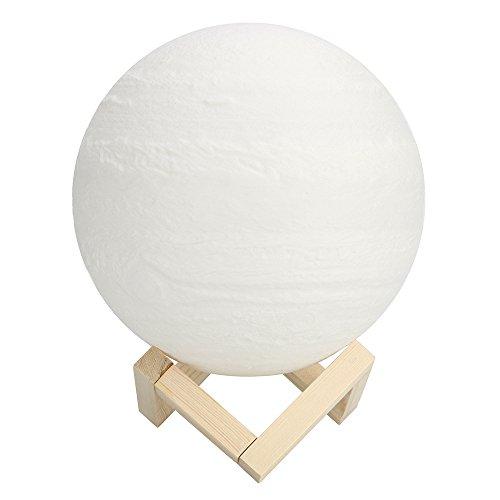 Appliance Pull Natürlichen (OverDose Home Luxus Himalaya-Salz Lampe, Überdosis Led-Hand Geschnitzte Natürliches Glühen Hymalain Salz Lampe Salzlampe Kristall Lampe Leucht Bosalla 600G / 220V, 2.5-15W (F-Jupiter-Lampe 20Cm))