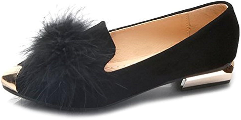 aisun orteil pointu de glisser sur la mode pour pour pour femmes à faible talons trapus cour chaussures b078tg9x46 parent 0b694e