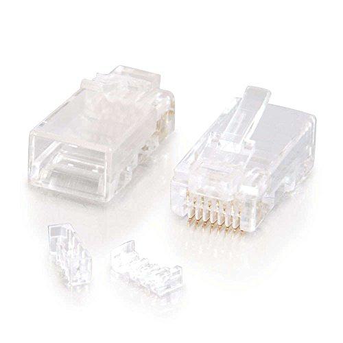 Cables to Go 88125 Modularer Kabelbinder für rundes/flaches RJ-45 Category 5E Kabel (100-er Pack) Kabelbinder Runde