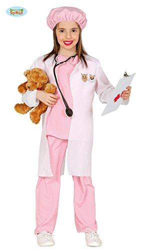 Kostüme Tierpfleger (KINDERKOSTÜM - TIERÄRZTIN - Größe 122-132 cm ( 7-9 Jahre ), Tierpfleger Tierlieb Veterinärin Hund Katze Mädchen)