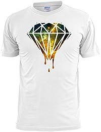 Dripping Diamond Space Nebula Print Mens T Shirt Swag Hip Hop Trill Dope - Free UK Postage