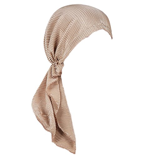 Kobay Avvolgere la Sciarpa della Testa di Perdita dei Capelli del Cotone  del Cappello del Turbante 704ca66ca083