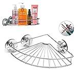GEMITTO Duschkörbe, 304 Edelstahl, Anti-Rost und Langlebig Badezimmer Korb, Duschregal Ohne Bohren für Bequeme Aufbewahrung von Shampoo und Duschgel mit Selbstklebend