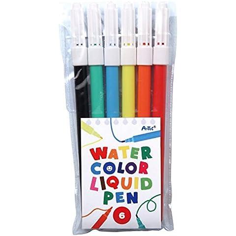 Artech 6. colori CH penna di colore acquoso 4..5.2.1..7.1.8.,7.01.2.5.7. millions [Voci vicine presi] 7.01.2.5.