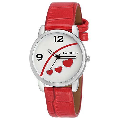 Laurels Red Dial Women\'s Watch (Lo-Feb-511)