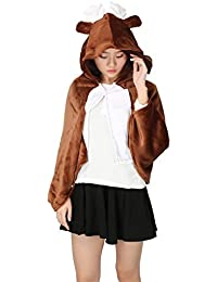 Felpe con cappuccio Dimensioni : L. D_HOME Costume Cosplay da palco di Woodland Red Riding Hood Costume di Halloween per Donna