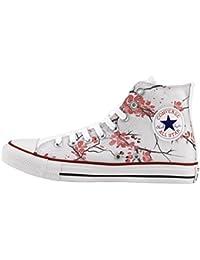 Converse All Star Personnalisé et imprimés - chaussures à la main -- summer flowers