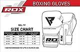 RDX Boxhandschuhe Sparring Rindsleder Training Kickboxhandschuhe Muay thai Sandsackhandschuhe, Rot, Gr. 12 oz - 4