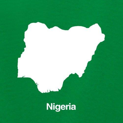 Nigeria / Bundesrepublik Nigeria Silhouette - Damen T-Shirt - 14 Farben Grün
