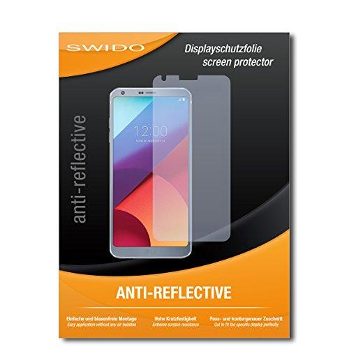SWIDO Bildschirmschutz für LG G6 [4 Stück] Anti-Reflex MATT Entspiegelnd, Hoher Härtegrad, Schutz vor Kratzer/Glasfolie, Schutzfolie, Bildschirmschutzfolie, Panzerglas Folie