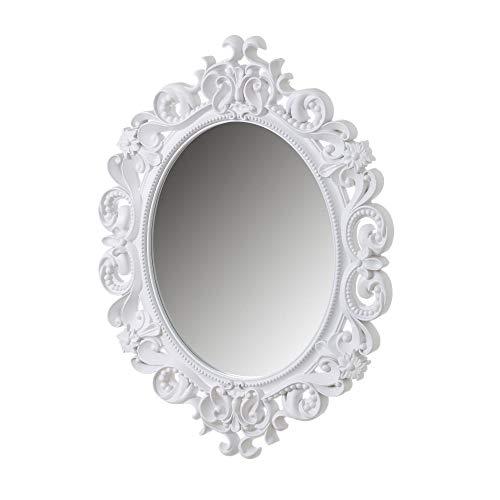 Espejo Cornucopia Blanco de Polipropileno clásico para decoración de 60 x 80 cm Fantasy - LOLAhome