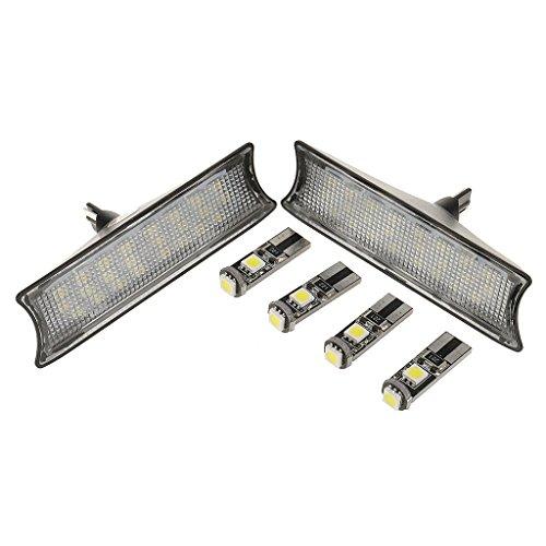ELECTROPRIME Interior LED Dome Overhead Reading Roof Lamp Kit for BMW E90/E91/E93 Black