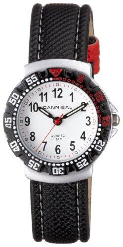 Cannibal CJ091-01 - Reloj analógico infantil con correa textil blanca