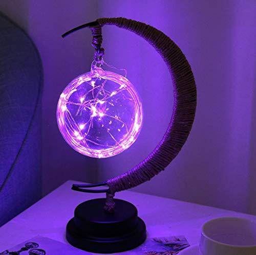 Außergewöhnliche Weihnachtsbeleuchtung.Star Moon Light Vine Ball Apfel Weihnachtsbeleuchtung Kindergeburtstagsgeschenk Kleine Nachtlichter 280 X 140 X 130 Mm Lila