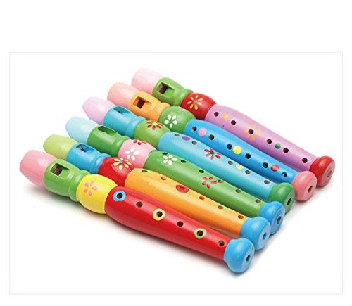 Tery Stick Bâton de Dessin Animé Dessin animé en Bois flûte Enfant Grande flûte Jouant Instrument de Musique pour Enfants Instrument (Rose)