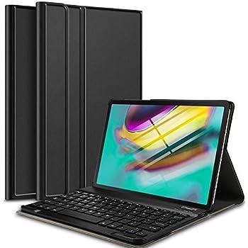 IVSO Clavier Étui pour Samsung Galaxy Tab S5e T720/T725,[QWERTY Layout] Détachable Clavier avec