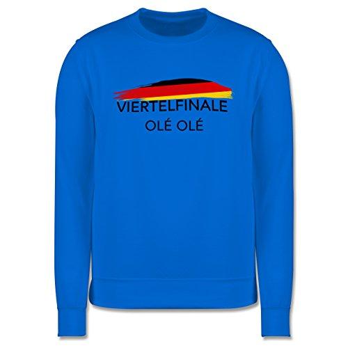EM 2016 - Frankreich - Deutschland Viertelfinale Olé Olé - Herren Premium Pullover Himmelblau