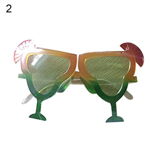 (strimusimak Lustige Kreative Brillen Abschlussball-Partei-Kostüm-Glas-Eyewear-Requisiten-Verzierung (2#))