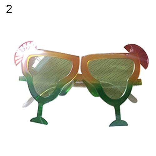Kostüm Partei Abschlussball - strimusimak Lustige Kreative Brillen Abschlussball-Partei-Kostüm-Glas-Eyewear-Requisiten-Verzierung (2#)