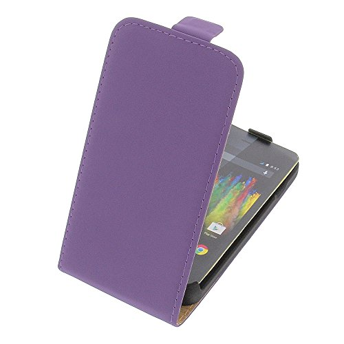 Tasche für Wiko Kite 4G Premium Flip Kunstleder lila