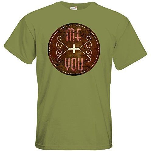 getshirts - RAHMENLOS® Geschenke - T-Shirt - für dich und mich used Look Green Moss