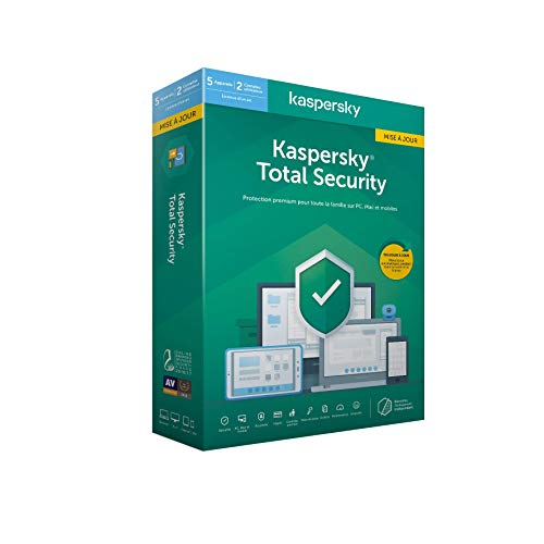 Kaspersky Total Security 2020 Mise à jour (5 Postes / 1 An)|Total Security|5 appareils|1 An|PC/MAC/Android|Telechargem