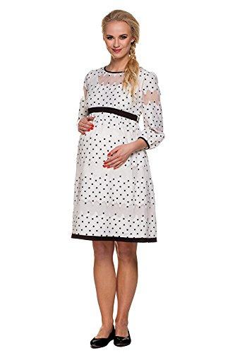 My Tummy Mutterschafts Kleid Umstands Kleid Amelia mit Spitze Polka Dot Elegant Hochzeit - 2