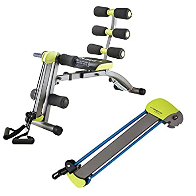 Wonder Core 2 Unisex Core Exercise Machine with Built in Twisting Seat and BONUS Rowing Set Pro with 9kg Resistance Bands (As Seen on High Street TV) by High Street TV