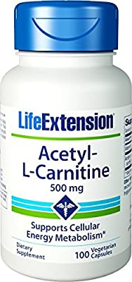 Life Extension, Acetyl-L-Carnitine, 500 mg, 100 Capsules