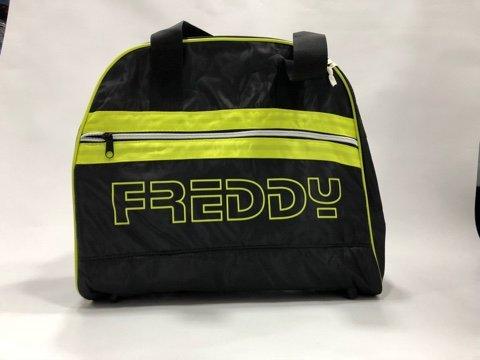 Freddy Bowlingtasche aus technischem Stoff mit neonfarbenen Einsätzen, Schwarz Einheitsgröße