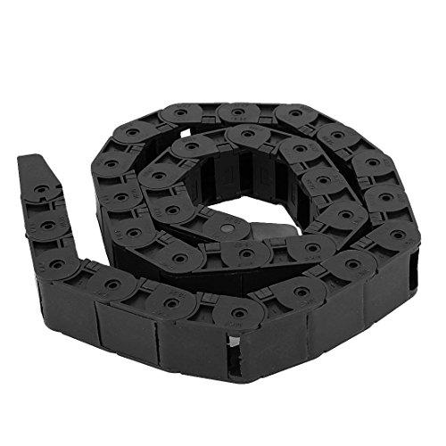 25 x 18 mm, Type ouvert câble chaîne plastique Towline frein transporteur 105 cm