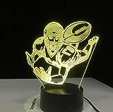 Wandaufkleber Halloween Weihnachten7 Bunte 3D Visuelle Led Rugby Nachtlicht Für Kinder Touch Usb American Football Modellierung Schreibtischlampe Baby Schlaf Leuchte Decor