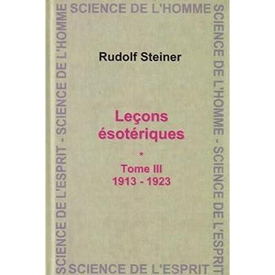 Lecons Esoteriques T.3