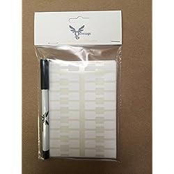 500X Bijoux étiquettes Prix Tags/prix Stickers/Haltère Forme étiquettes Blanc