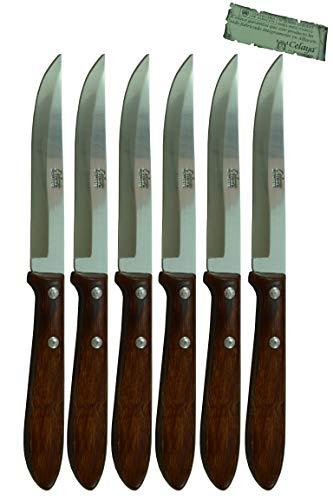 Cuchillos de mesa Madera Celaya Filo Lote 6 Uds.