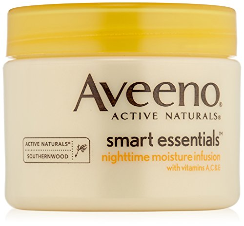 Aveeno Soins hydratants de nuit Smart Essentials - Enrichis en Vitamines A, C et E - 50 ml