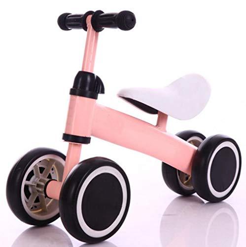 Kinderfahrrad Balance Auto Torsionsauto ohne Pedal Vierrad Roller 1-3 Jahre alt (Farbe : Rosa) -