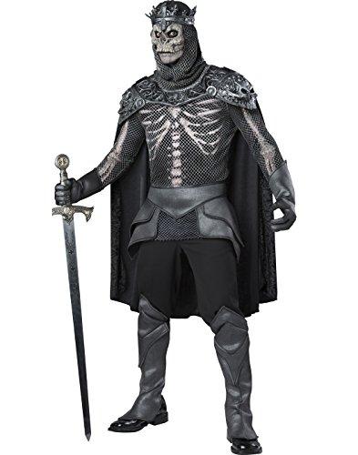(Schwarzer Skelett König Kostüm Dunkler Ritter - XL)