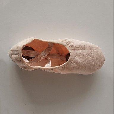 Wuyulunbi@ Donna in cotone di balletto Split Sole Indoor arrossendo rosa ,Pink,US7 / EU39 / UK6 Big Kids Noi13 / EU31 / UK12 bambini piccoli