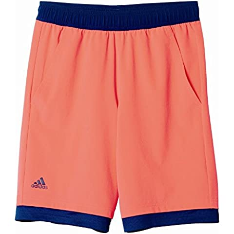 adidas B Pro Bermuda - Pantalón corto para niños de 11-12 años, color rojo
